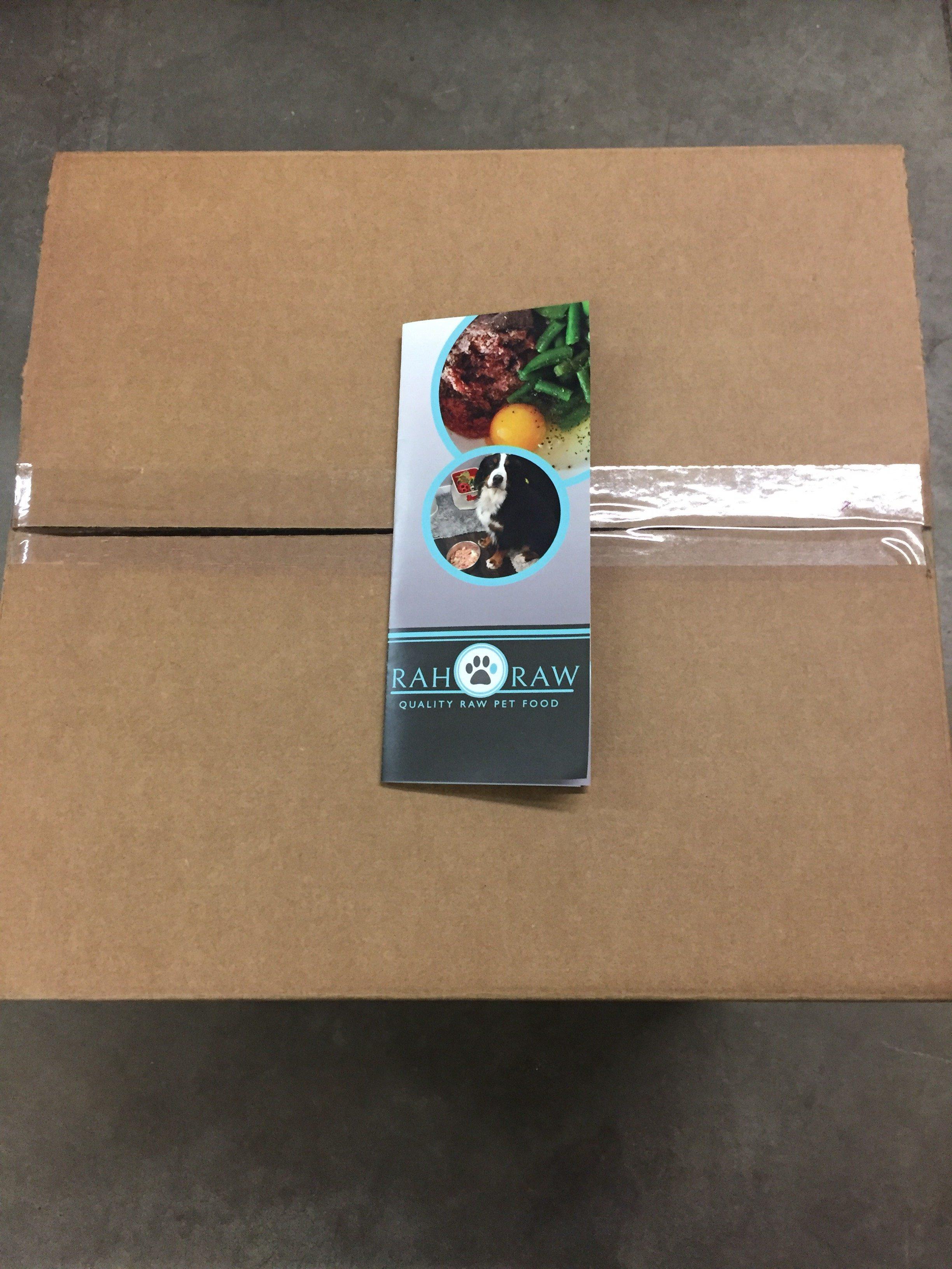 custom packs for raw dog food